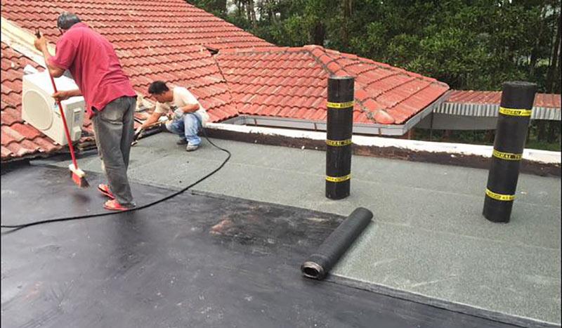Thi công sika chống thấm sàn mái sân thượng